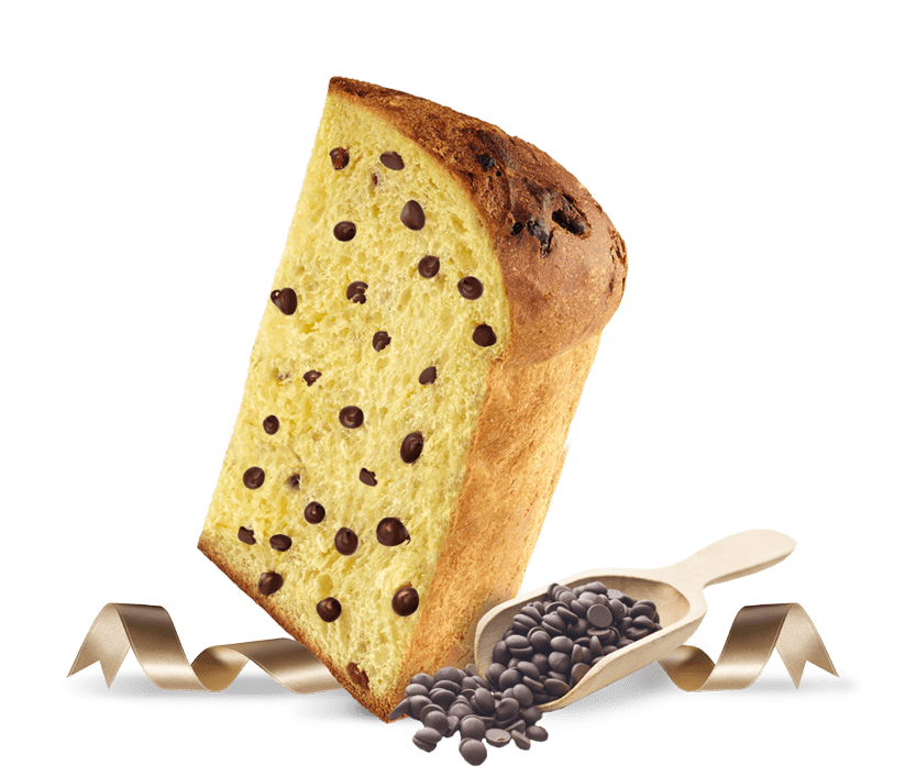 Biscotti Pineta - Panettone con gocce al Cacao - con ingredienti