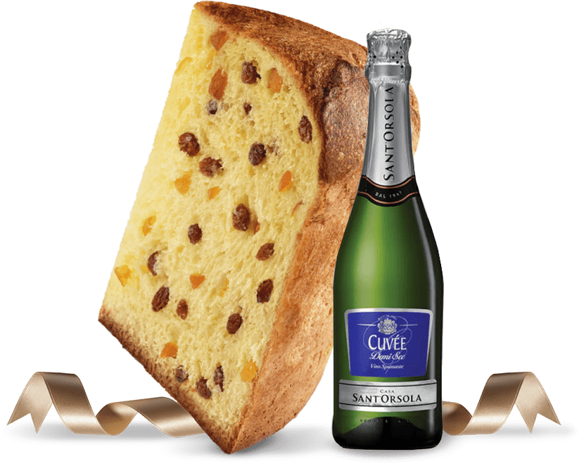 Biscotti Pineta - Classic Panettone with bottle - con ingredienti