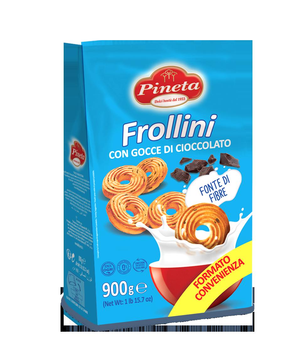 Biscotti Pineta - Frollini con Gocce di Cioccolato - Linea Classici